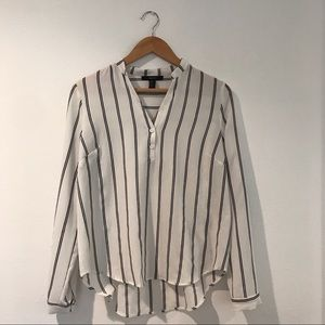 Forever 21 Striped Button Up